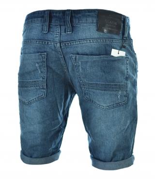 dceb58e3647 Мъжки дънкови къси панталони цвят индиго ...